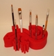 Gecko Brush Holder - Red