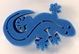 Gecko Brush Holder - Blue