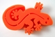 Gecko Brush Holder - Orange