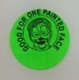 "Sticker - Green ""Good for one Face Painting"""