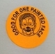 "Sticker - Orange ""Good for one Face Painting"""