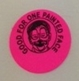 "Sticker - Pink ""Good for one Face Painting"""