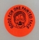 "Sticker - Red ""Good for one Face Painting"""