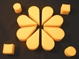 8 pack Petal Sponge-Yellow
