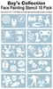 "Pack of ten ""Boys Favorite"" stencils"