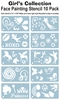 Pack of ten Girls Stencils